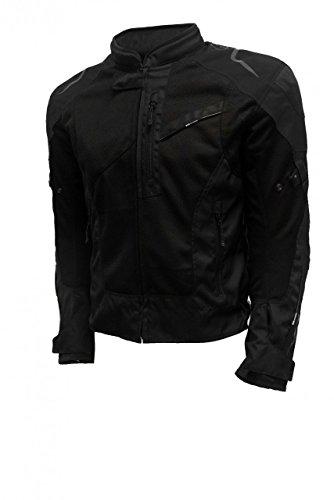 Oxford Mens Estoril Mesh Textile Jacket Tech Black Medium