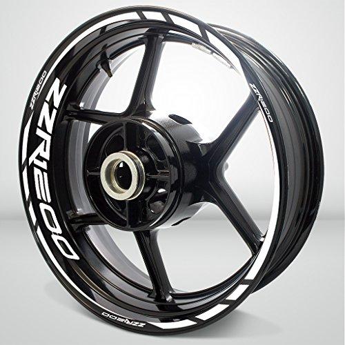 Gloss White Motorcycle Rim Wheel Decal Accessory Sticker for Kawasaki ZZR 1200
