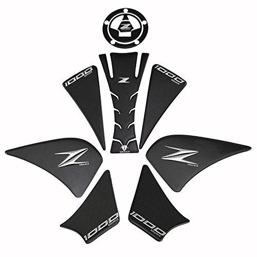 PRO-KODASKIN Carbon 3D Adesive Sticker Decal Emblem Protection Gas Cap Tank Pad for Kawasaki Z1000 2012-2015