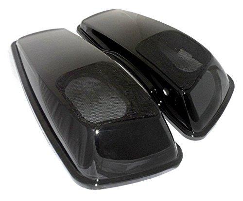 6x9 Saddlebag Speaker Lids Gloss Vivid Black for 2014 2015 2016 2017 Harley-Davidson Touring Models Road Glide Street Glide Electra Ultra Classic