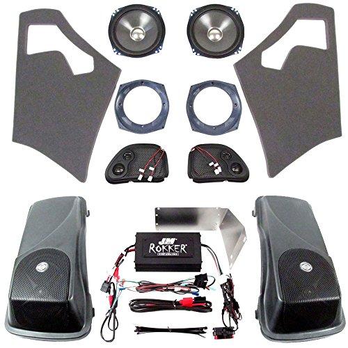 J&M Audio Rokker XXR 4 Speakers with Saddlebag Lids and 630 Watt Amplifier Kit for 2006-2013 Harley-Davidson Road Glide models - HC-630XXR-RGLID