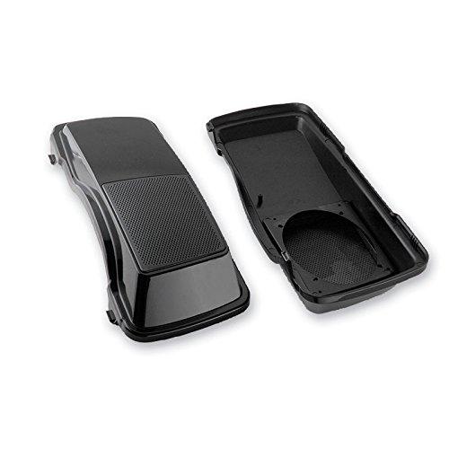 TJMOTO Unpainted Black Dual 6x9 Saddlebags Speaker Lids For 1994-2013 Harley Saddlebag Touring Road King Street Glide Road Glide Electra Glide