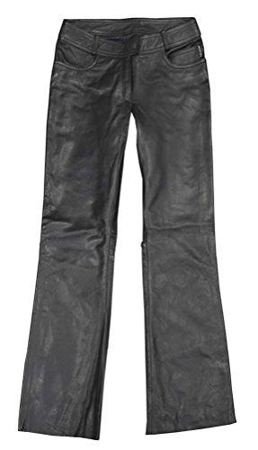 Redline Womens Jean Style Leather Motorcycle Riding Pants Black L-3507 XL