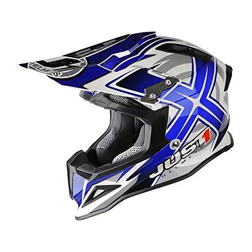 Just 1 J12 Mister X Helmet Gender MensUnisex Helmet Type Offroad Helmets Helmet Category Offroad Distinct Name Blue Primary Color Blue Size XL J1J388BLCBMXXL