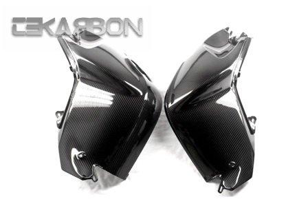 2005 - 2012 BMW K1200R K1300R Carbon Fiber Tank Cover 2pc - Twill