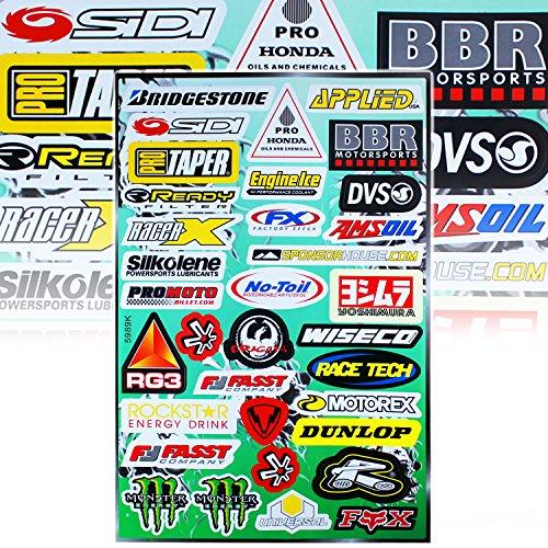 Automotive Sponsor Logo Decal Sticker Motorcycle  Dirt Bike  ATV  Helmet Pro-Moto