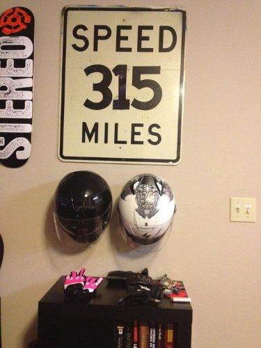 Standard Motorcycle ATV Helmet Holder Made In the USA Black