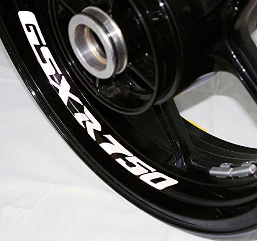 AFBA Suzuki GSXR750 v2 Inner Rim Motorcycle Sticker Decal Stripe Gloss White