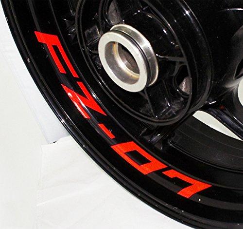 AFBA Yamaha FZ07 Inner Rim Motorcycle Sticker Decal Stripe Gloss Red
