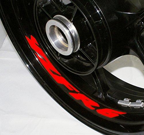 AFBA Yamaha YZF R6 v2 Inner Rim Motorcycle Sticker Decal Stripe Gloss Red