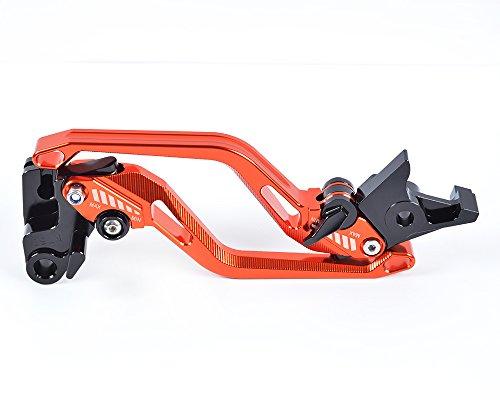 Tencasi Orange New Long Rhombus Hollow Brake Clutch Levers for HONDA VFR 1200F 2010 2011 2012 2013 2014 2015 2016