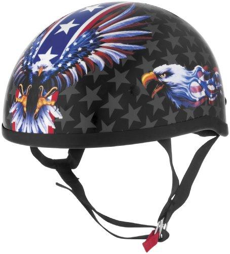 Skid Lid Helmets Original USA Flame Eagle Helmet  Distinct Name USA Flame Eagle Gender MensUnisex Helmet Category Street Helmet Type Half Helmets Primary Color Red Size XL 646990