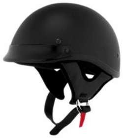 Skid Lid Helmets SL TRADITIONAL FLT BLACK SIZEMED Motorcycle HELMETS