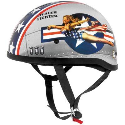 Skid Lid Original Bomber Pinup Half Helmet Llarge