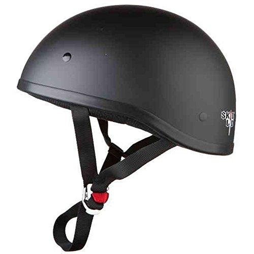 Skid Lid Original Solid Motorcycle Helmets - Matte Black - Medium