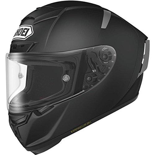 Shoei Solid X-14 Sports Bike Racing Motorcycle Helmet - Matte Black  Large
