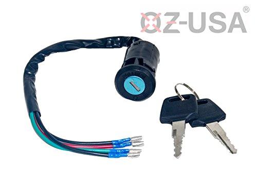 Key Ignition Switch OZ-USA On Off Motorcycle Dual Sport Dirt Bike ATV Universal Super Moto MX