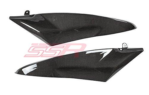 2006 2007 Yamaha YZF R6 Carbon Fiber Fibre Fuel Gas Tank Side Cover Body Panel Fairings