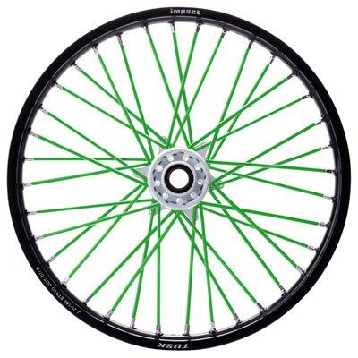 Tusk Spoke Sleeves Green - Fits Triumph Adventurer 900 1999-2001