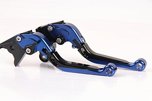 CNC Folding&Extending Brake Clutch Levers For Honda CBR 600 RR 2007-2015 2014 2013 2008 Blue Black