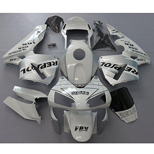 ZXMOTO White Silver Painted Fairing Kit for Honda CBR 600 RR F5 2003-2004
