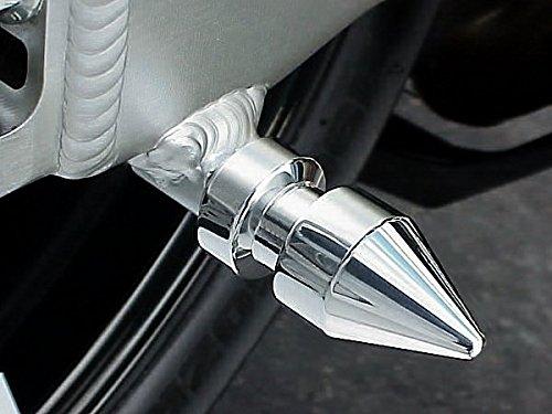 i5 CHROME SPIKE SWINGARM SPOOLS for Honda CBR600 CBR 600 RR 600RR CBR600RR CBR954 954 954RR CBR954RR CBR1000 1000 1000RR CBR1000RR RC51