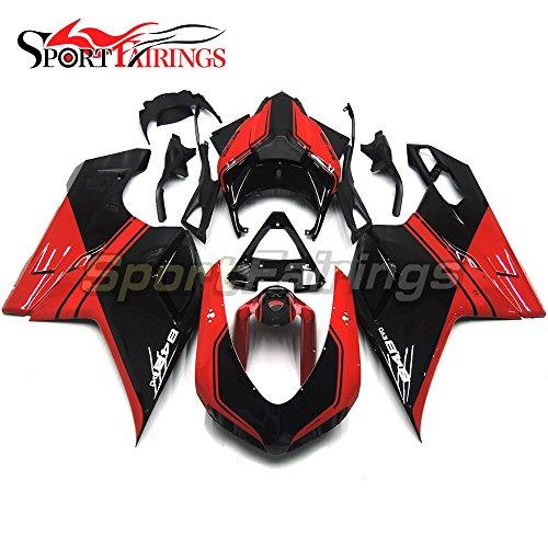Sportfairings Injection ABS Plastic Fairing Kit For DUCATI 1098 848 1198 Year 2007 2008 2009 2010 2011 2012 Motorbike Gloss Black Red