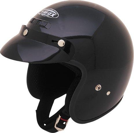 GMax GM2 Glossy Black Open Face Helmet - X-Large