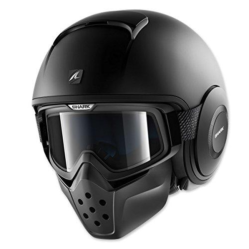 Shark Drak Matte Black Open Face Helmet XL