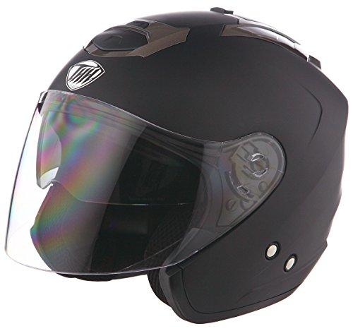 THH T-386 Matte Black Open Face Helmet Large
