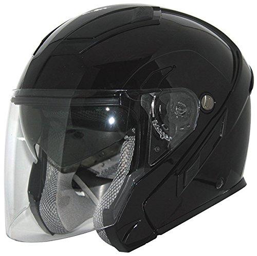 Zox Sierra SVS Glossy Black Open Face Helmet 5XL