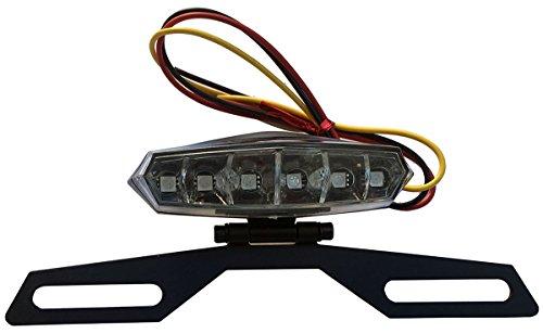 6 LED License Plate Holder Light Lamp for 1986 Honda Goldwing 1200 GL1200I Interstate