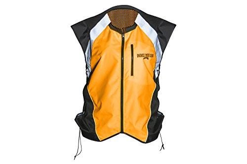 Badass Moto Gear Hi Vis Reflective Motorcycle Vest Mil-Spec Fits Over Jackets Adjustable Sides Zipper Front Pocket Bikers ATV Hunting Cycling Military