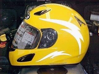 Reflective Motorcycle Helmet Decal Kit - Lightning - Black