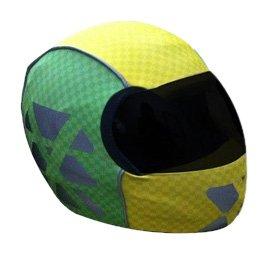 SkullSkins X Factor Reflective Motorcycle Helmet Skin GreenYellow