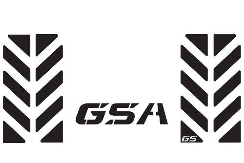 The Pixel Hut gs00019b BMW GS Motorcycle Reflective Decal Kit GSA Chevron for Touratech Top Case Box - Black