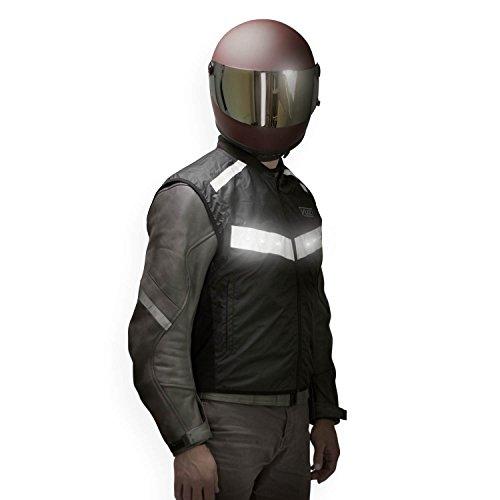 VUZ Moto LED Reflective Motorcycle Safety Vest Medium