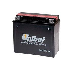Unibat Maintenance-Free Battery with Acid CBTX20L-BS for Harley-Davidson Softail Standard FXSTI 2000-2008