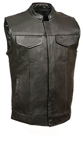 Milwaukee Leather  Mens Open Neck Club Vest Black 4X-Large
