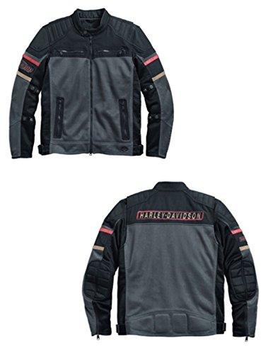 Harley-Davidson Mens Valor Mesh Textile Riding Jacket - 97211-17VM