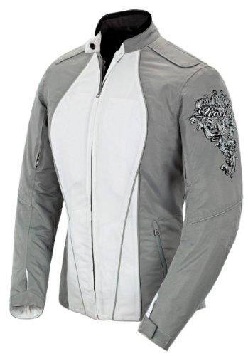 Joe Rocket Alter Ego 30 Womens Textile Riding Jacket SilverWhite Small