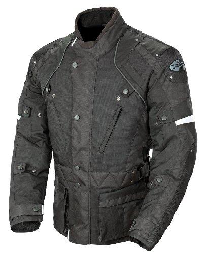 Joe Rocket Ballistic Revolution Mens Textile Motorcycle Riding Jacket BlackBlack XX-Large