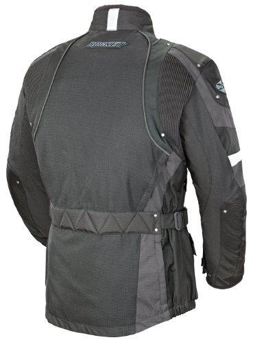 Joe Rocket Ballistic Revolution Mens Textile Motorcycle Riding Jacket BlackGray X-Large