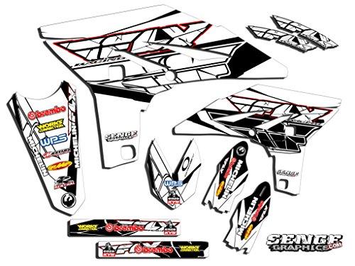 Senge Graphics 2007-2014 Yamaha WR 250F Fly Racing WhiteRed Graphics Kit