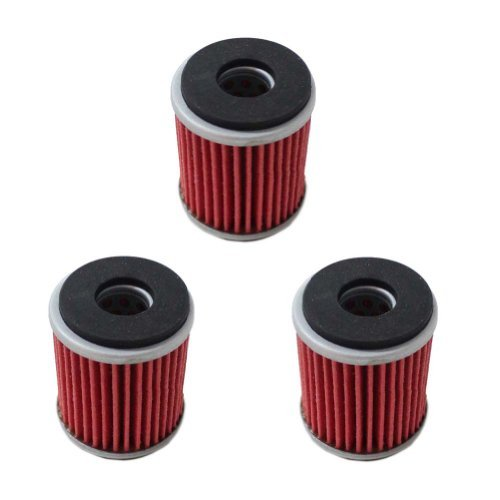 New Pack of 3 Oil Filter fit for Yamaha YZ250F YBR250 YZ450F WR250F WR450F YFM250R WR250X YZ250 XT250 YFZ450 YFZ450R YFZ450W YFZ450X YZ250F Replace HF140 KN140