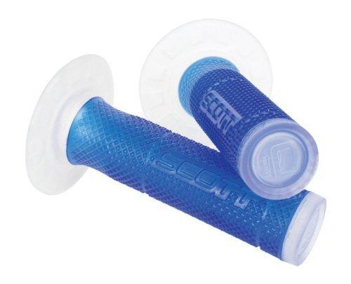 Blue Clear Scott Sx 2 Handlebar Hand Grips and Free Sticker Fits Yamaha Yz80 Yz85 Yz125 Yz250 Yz465 Yz490 Yz250f Yz450 Yz400 Yz426 Wr250 Wr450 Ttr125 Ttr230 Ttr90 Ttr110 Pw80 Rt100 Rt180 1981-2014