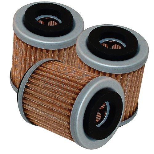 Caltric 3-PACK Oil Filter Fits YAMAHA MOTO-4 350 YFM350 YFM-350 346 350 1987-1995 ATV