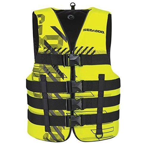 BRP Sea-Doo Unisex Nylon Navigator Life Jacket Vest PFD YELLOW 2X3X