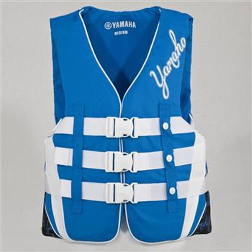 OEM Yamaha Womens Nylon Life Jacket Vest PFD Blue Small