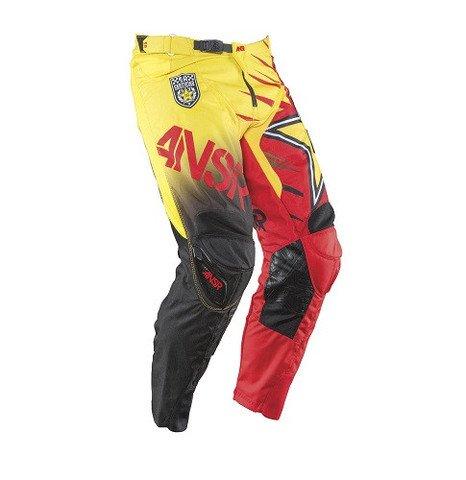 Answer Racing Rockstar Mens MX Motorcycle Pants - RedYellow  Size 32